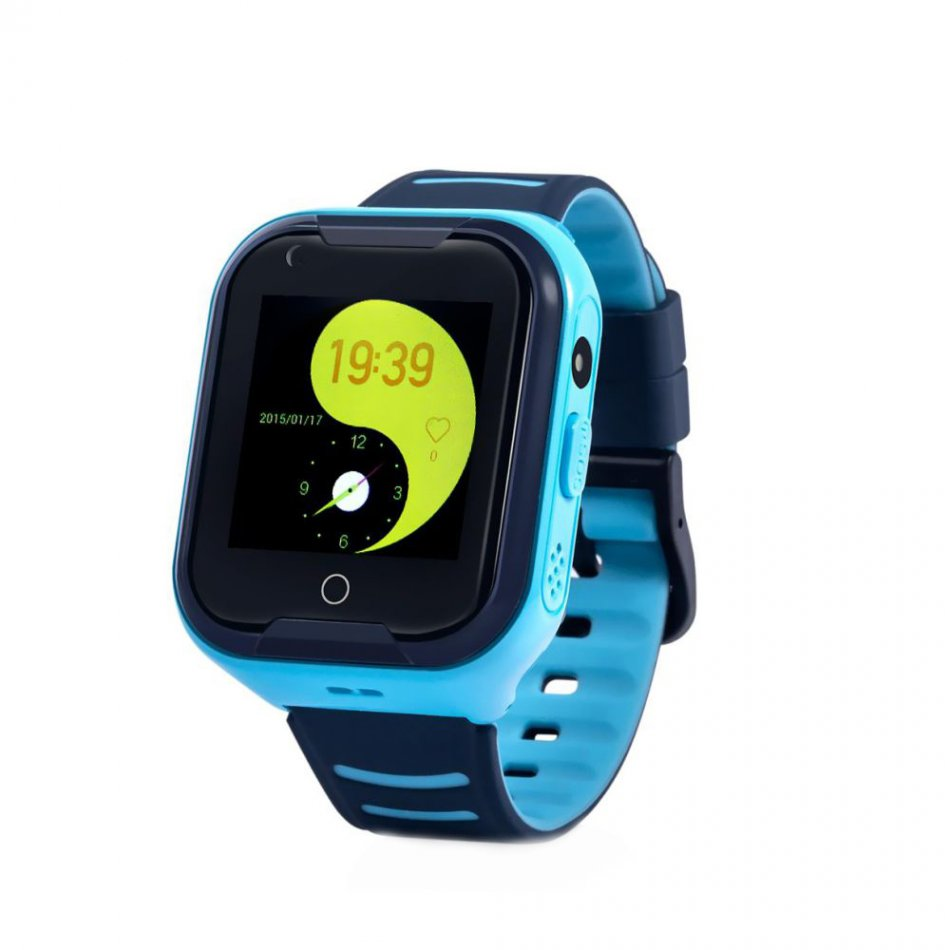 Ceas smartwatch GPS copii Techone™ KT11 4G, apel video, camera ultrapixel, Wi-Fi, rezistent la apa IP67, telefon, bluetooth, SOS, touchscreen, monitorizare spion, Albastru,