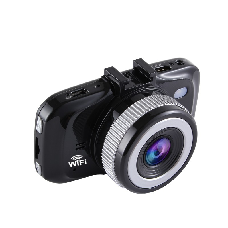 Camera auto DVR TechONE™ RoadTeam W906, FullHD, night vision, 2.7 inch, unghi de filmare 170 grade, tehnologie WDR, negru