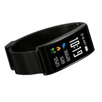 Bratara fitness TechONE™ FitGear X3,  Stand by 40 de zile, puls, IP 68, color, BT 4.0, tensiune, Android, iOS, notificari, remote camera, negru