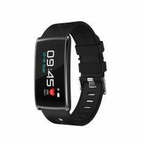 Bratara fitness TechONE™ FitGear N68, ecran color, IP67, metalica, puls dinamic, tensiune, oxigen, nivel oboseala, Android, iOS, stand by 15 zile, notificari, negru