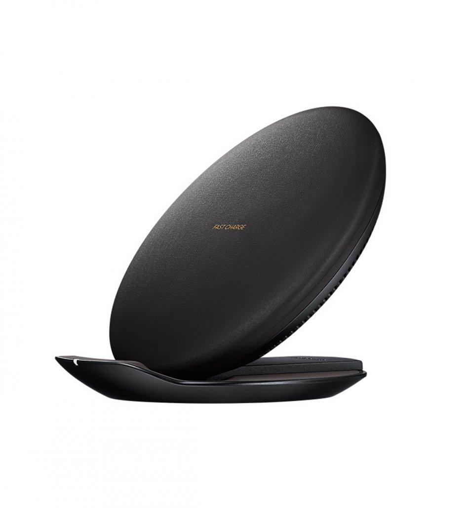 Incarcator wireless Loowoko LWC-F07, 10W, disipare caldura, protectie scurtcircuit, logo luminos, incarcare cu carcasa, negru
