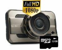 Camera video auto DVR Loosafe™ RoadTeam T669, FullHD, AV out, metalica, 3 inch, unghi de filmare 140 grade, tehnologie WDR, loop recording, lentile Sony, negru