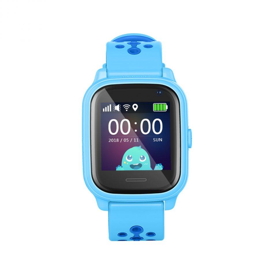 Ceas smartwatch GPS copii TechONE™ KT04 foto ultrapixel 3MP, Wi-Fi, telefon, GPS ultraprecis, bluetooth, SOS, ecran touchscreen, monitorizare spion, albastru,