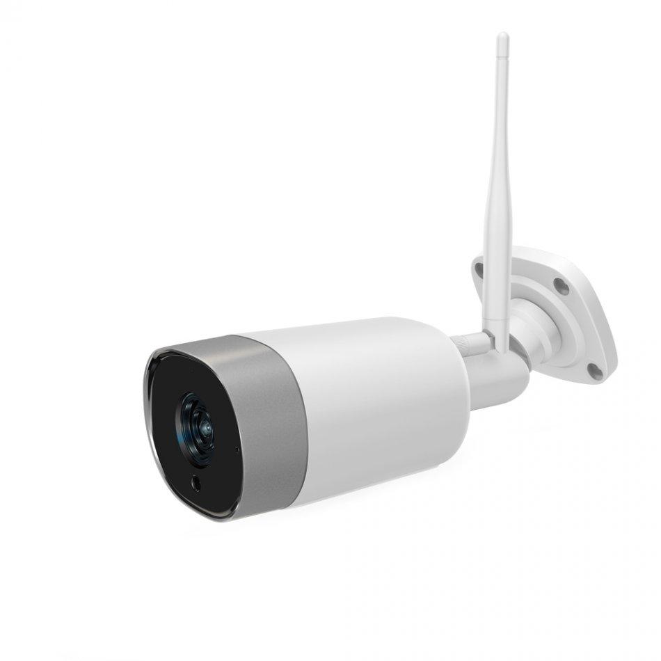 Camera de supraveghere exterior WIFI Loosafe™ CB301 Pro, exterior, 3MP, night vision, comunicare bidirectionala, rezistenta la apa, FullHD, senzor miscare, compatibil Alexa alb