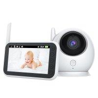 Baby Monitor video Loosafe™️ ABM 100, ecran 4.3 inch, rotire, vedere noaptea, detectare plans, comunicare bi-directionala, alb