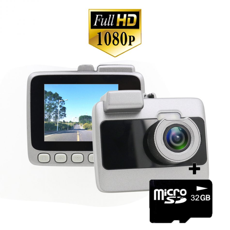 Camera auto DVR Loosafe™ RoadTeam G109C, 2 inch, FullHD 30FPS, Senzor G, unghi 170 de grade Lentile Sony, mod parcare, inregistrare in bucla, auto ON/OFF, negru