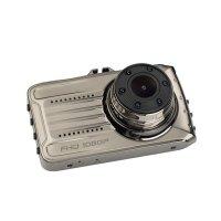 Camera auto dubla DVR Loosafe™ RoadTeam T666, 3 inch, unghi 170 de grade, auto ON/OFF, argintiu
