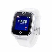 Ceas smartwatch copii GPS TechONE™ KT07, WiFi + localizare foto, camera foto, functie telefon, submersibil, telefon, buton SOS, Alb