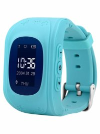 Ceas smartwatch copii GPS Techone™ Q50 GPS,  functie telefon, buton SOS si monitorizare spion, Albastru