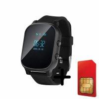 Ceas smartwatch copii sau adultii cu GPS Techone™ GW700 cu functie telefon, localizare WiFi, monitorizare spion, buton SOS, Negru