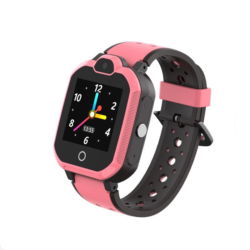 Ceas smartwatch copii GPS TechONE™ LT05, 4G, WiFi + localizare foto, camera foto, telefon, lanterna, buton SOS, apel video, rezistent la apa, Roz