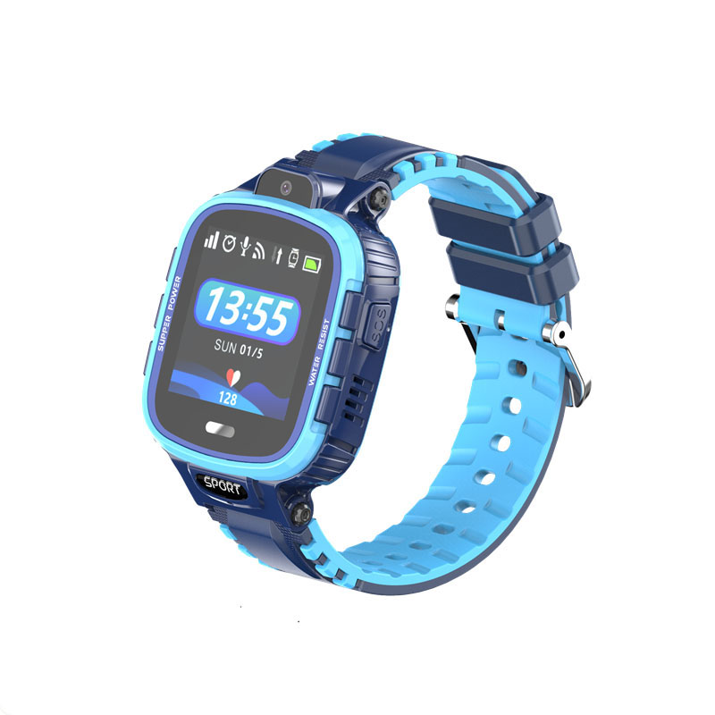 Ceas smartwatch copii GPS TechONE™ TD26, WiFi + localizare foto, camera foto, rezistent la apa, telefon, buton SOS, alerta ceas desfacut, Albastru