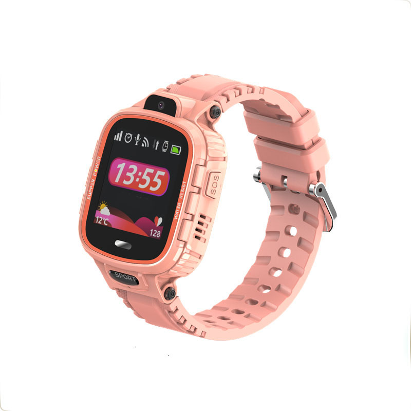 Ceas smartwatch copii GPS TechONE™ TD26, WiFi + localizare foto, camera foto, rezistent la apa, telefon, buton SOS, alerta ceas desfacut, Roz