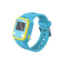 Ceas smartwatch copii GPS TechONE™ TD01, telefon, wifi, buton SOS, alerta ceas desfacut, ecran color, Albastru