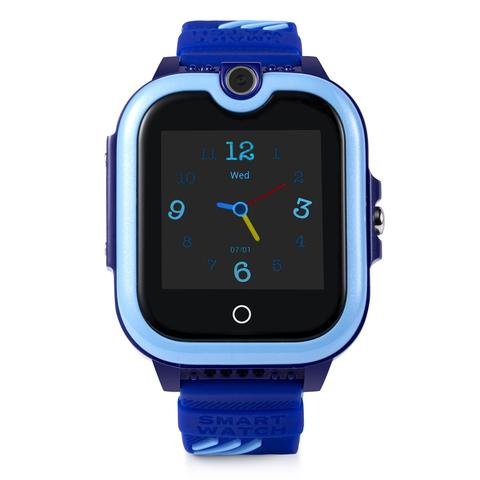 Ceas smartwatch GPS copii Techone™ KT13 4G, apel video, camera ultrapixel, Wi-Fi + localizare video, rezistent la apa, telefon, SOS, touchscreen, monitorizare spion, Albastru