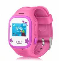 Ceas smartwatch copii GPS TechONE™ TD01, telefon, wifi, buton SOS, alerta ceas desfacut, ecran color, Roz