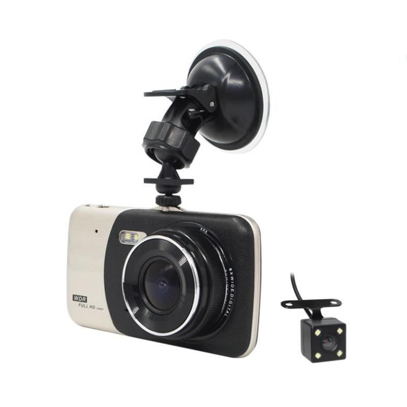 Camera auto dubla DVR Loosafe™ RoadTeam 503CX, 4 inch, FullHD 30FPS, 170 de grade, HDR/WDR, mod parcare, inregistrare in bucla, lentile 6G, auto ON/OFF, negru