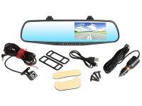 Camera auto oglinda, dubla DVR Loosafe™ RoadTeam L2000 PRO, 4.3 inch, FullHD, 140 de grade, camera marsarier, mod parcare, inregistrare in bucla, auto ON/OFF, negru