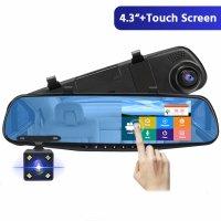 Camera auto oglinda, dubla DVR Loosafe™ RoadTeam L2100 PRO, FullHD, 170 de grade, camera marsarier, mod parcare, inregistrare in bucla, auto ON/OFF, negru