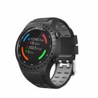 Ceas smartwatch TechONE™ M1S, Sim, Telefon, GPS si Busola, Ritm Cardiac, Touch, notificari, negru/gri