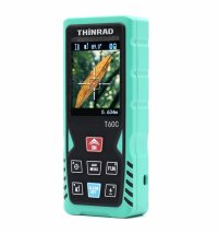 Telemetru laser si boloboc profesional Thinrad T60C, 60m, display color, camera video, acuratete +/- 1.5mm, calcul suprafata, volum, husa depozitare, alimentare baterie sau micro usb, verde