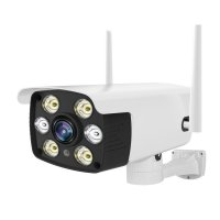 Camera de supraveghere WIFI Loosafe™ YS-216, de exterior, inregistrare in cloud/card, rezistenta la apa, 2MP 1080p, senzor miscare, comunicare bidirectionala, activare lumina, alb
