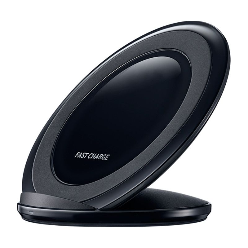Incarcator wireless birou Loowoko™ L-AC-015, 10W, stand/culcat, port USB, ceas, lumina de veghe, touch, Negru