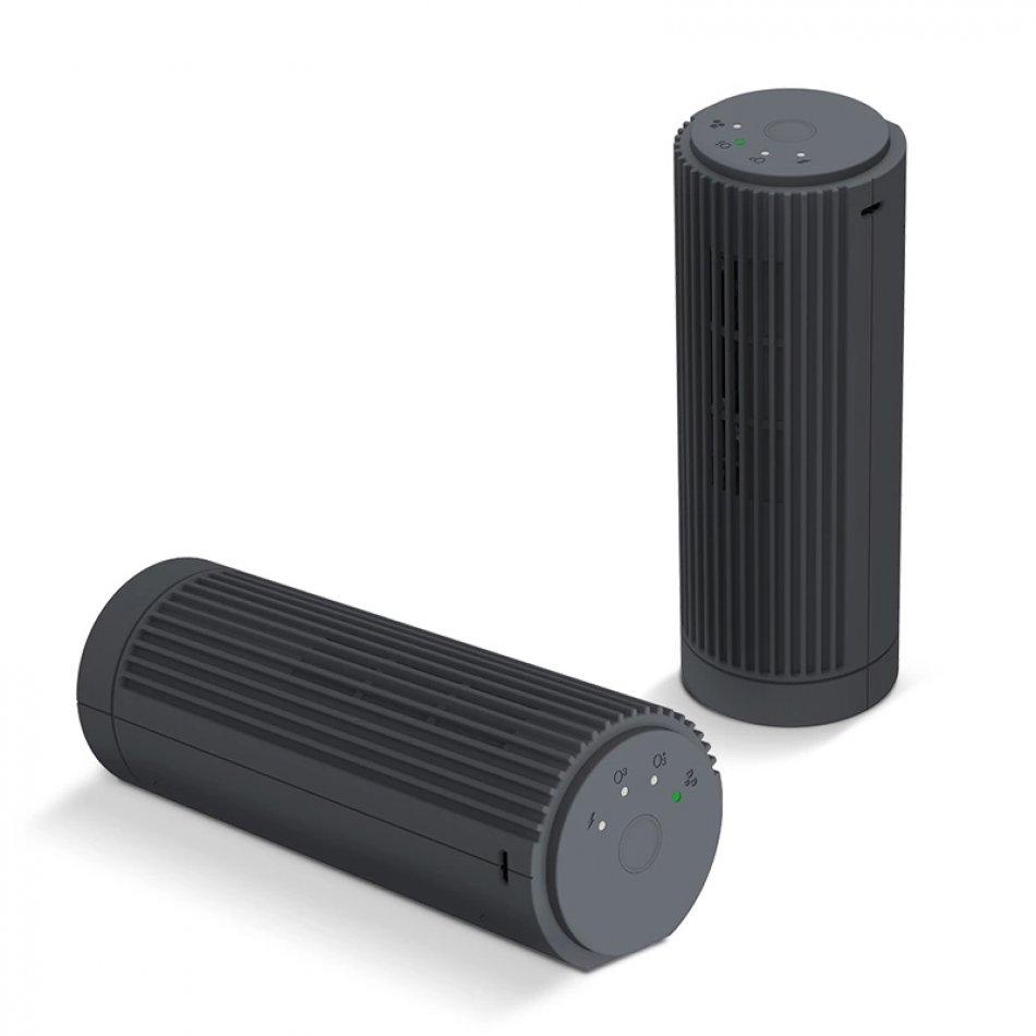 Purificator aer portabil, KD Home™ JO-6708, ioni negativi/ozon, incarcare acumulator sau micro USB, elimina mirosuri, fum, bacterii, negru