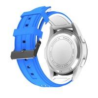 Ceas smartwatch TechONE™ F3 Sport, autonomie 12 luni, rezistent la apa ip68, Android/iOS, notificari apeluri, sms, barometru, altitudine, albastru