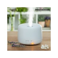 Umidificator InnovaGoods™ KD01, 12-20m², purificator aer, difuzor, aromaterapie, ultrasunete, rezervor 300ml, 20-50 ml/h, alb