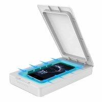 Sterilizator telefon mobil KD Home™ LP-UN-3, portabil, 6.5 inch, aromaterapie, obiecte, elimina bacterii, virusuri, alb