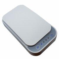 Sterilizator telefon  mobil KD Home™ LP-UN-09, valoare unda UV 254nm, portabil, 6.5 inch, aromaterapie, obiecte, elimina bacterii, germicidal, virusuri, alb