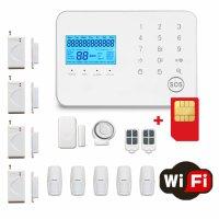 Sistem de alarma wireless GSM Wale® JT99CS, 11 senzori, control aplicatie si SMS, comunicare bidirectionala SOS, inregistrare evenimente, sim pre-pay cadou