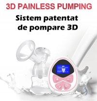 Pompa de san electrica Horigen® XN-2209MA, sistem patentat de extragere 3D, ecran LCD, 9 viteze, 2 faze de extragere, memorie, alimentare priza/baterii, saculet depozitare