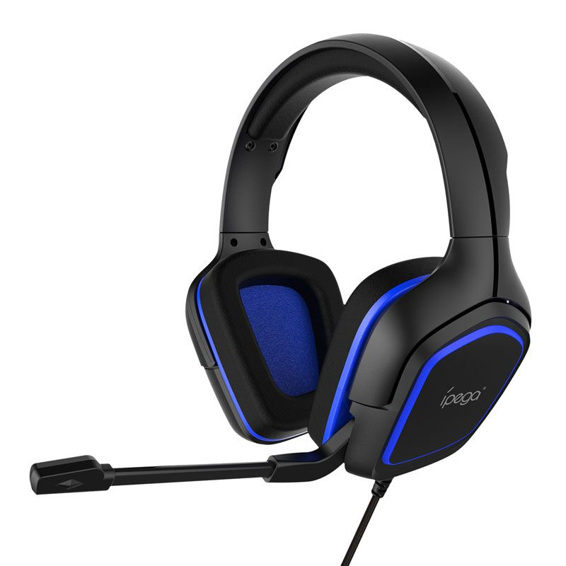Casti Gaming Ipega Gaming X1 RoPro, microfon ajustabil, reglare marime, on/off microfon, difuzor 40mm, reducere zgomot extern, compatibil PS4, Nitento Switch, PC, Xbox, Negru/Albastru