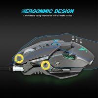 Mouse gaming, Zerodate® 3200DPI reali si ajustabili, luminat RGB, greutate ajustabila, cablu impletit, rotita aluminiu, programabil, software inclus