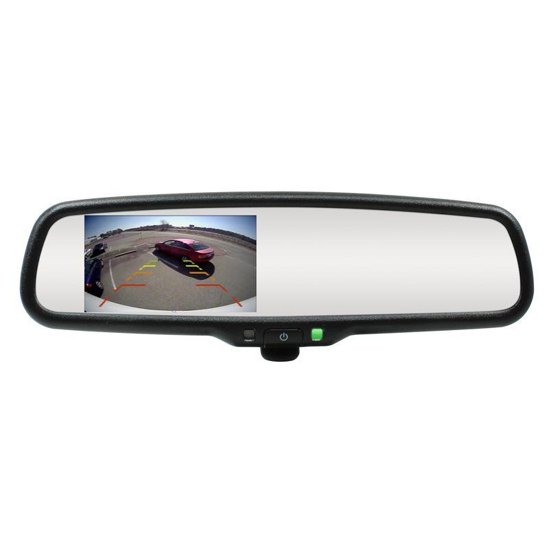 Camera auto video oglinda DVR Loosafe™ RoadTeam HR-801, Ecran Tactil, Full HD 30fps, unghi 170 grade, metalica, camera marsarier, inregistrare cliclica, WDR, acumulator inclus, negru