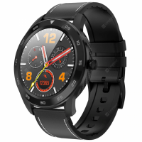 Ceas smartwatch TechONE™ DT98, ecran HD, ritm cardiac, Touch, fete multiple, apel telefonic, notificari, subtire, design carbon, sporturi multiple, rezistent la apa, negru/gri