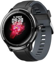 Ceas smartwatch TechONE™ SN80, stand by indelungat, sporturi multiple, carbon, rezistent la apa, notificari, fatete multiple, ritm cardiac, senzor Bosch, vigratii, negru