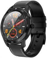 Ceas smartwatch TechONE™ DT98, ecran HD, ritm cardiac, Touch, fete multiple, apel telefonic, notificari, subtire, design carbon, sporturi multiple, rezistent la apa, negru/gri