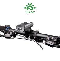 Far bicicleta Huerler® HJ316, cu claxon, panou solar, LED Cree XPE, 280 lumeni, rezistent la apa, acumulator 1200mAh, incarcare USB, 3 moduri de luminare, negru