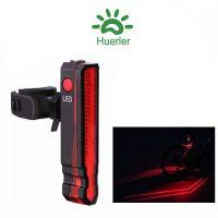 Stop bicicleta, Huerler® LD51, 5 x LED, rezistent la apa, proiectare dungi laser pe asfalt, 6 moduri luminare, 300mAh, incarcare USB, negru