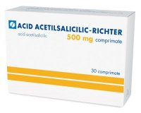 ACID ACETILSALICILIC - RICHTER 500 mg 500mg x 30 COMPR.