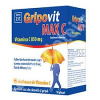 ZDROVIT GRIPOVIT MAX C 10PLIC CUTIE X 10 PLICURI