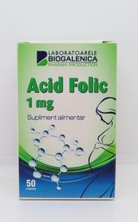 ACID FOLIC 1MG x 50 CPR