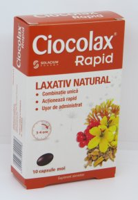 CIOCOLAX RAPID X 10 CPS