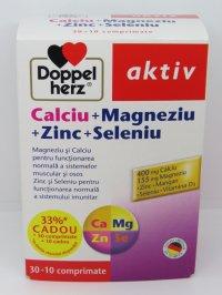 DOPPELHERZ  AKTIV CALCIU + MAGNEZIU + ZINC + SELENIU X30CP