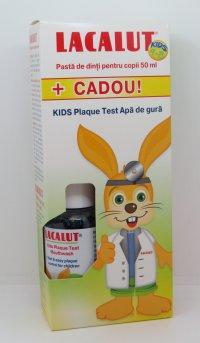 LACALUT KIDS (4-8 ANI)*50ML+PLAQUE TEST*50ML