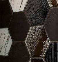 HEXAGON RUCHE NOIR 12,5X10,5