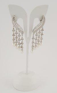 Cercei Argint 925 Lungi cu Perle